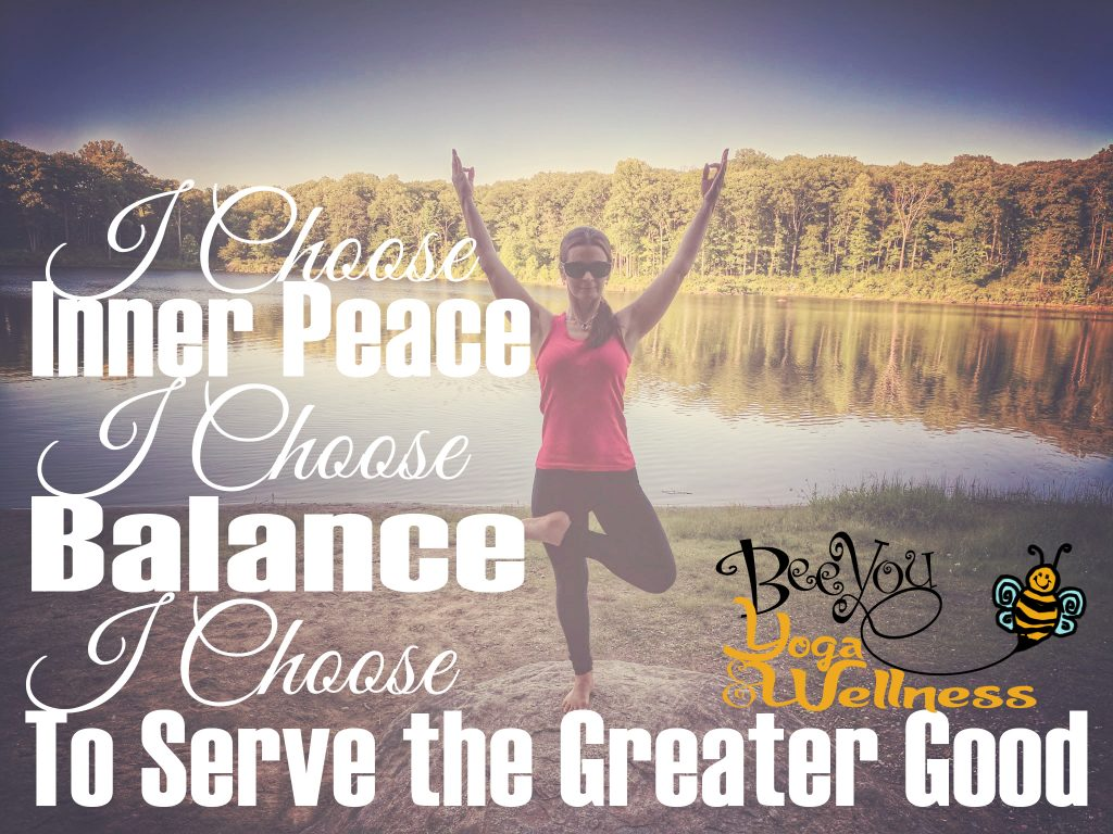 I choose to serve the greater good